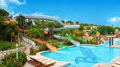 Families staying at the all-inclusive Beaches Ocho Rios will love the dedicated Scuba pool, onsite water park, golf clinics for kids and Sesame Street shows.