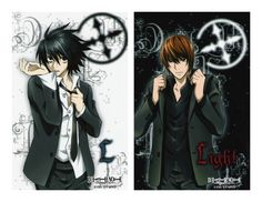 Near, Light and L(デスノート) 壁紙 probably containing comic book and a headshot in The DEATH NOTE デスノート Club