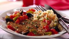 Betty Crocker's Heart Healthy Cookbook shares a recipe! Looking for a distinctive lamb dinner? Then check out these browned chops simmered in a flavorful sauce and served with couscous - a wholesome meal!