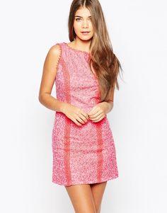 Little+Mistress+Textured+Shift+Dress