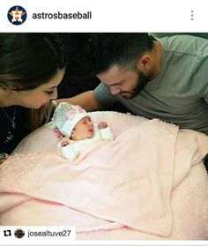 Congratulations, Jose Altuve and wife on the birth of their daughter, Melanie Andrea! Astros World Series, Military First, Minute Maid Park, Houston Astros, Future Husband, Luxury Branding, Birth, Congratulations, Daughter