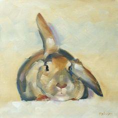 Debbie The Rabbit by Cheryl Wilson - Debbie The Rabbit Painting ...