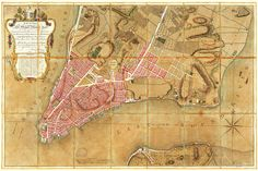 Plan of New York by Bernard Ratzer a prominent British engineer cartographer and surveyor during French and Indian War and prior to the American Revolution