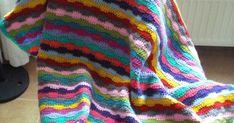 Zo, dekentje nummer twee is klaar. Het patroontje kwam ik tegen in een boekje met haaksteken. Ik heb nog een hele boel wol, d...