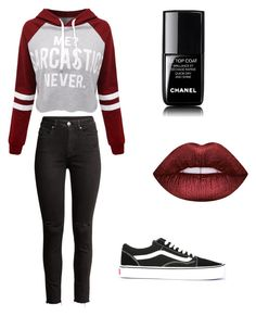 """""""Chill Outfit 🤙🏼"""" by shizukami on Polyvore featuring Mode, H&M, WithChic, Vans, Lime Crime und Chanel"""