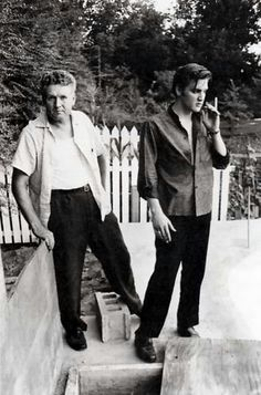 Elvis with his father.