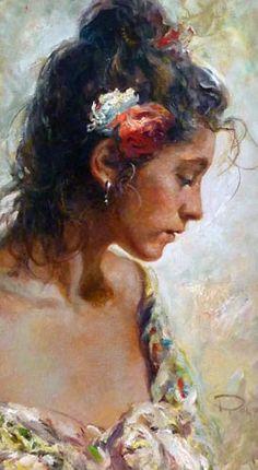 """Spanish artist Jose Royo ~ """"Sevillana"""""""