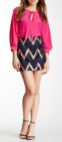 Julie Brown Nahla Silk Skirt