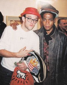 Keith Haring and Jean Michel Basquiat.