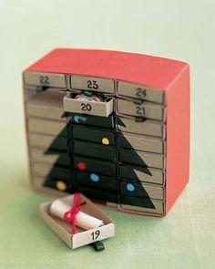 Advent calendar ideas - matchboxes advent