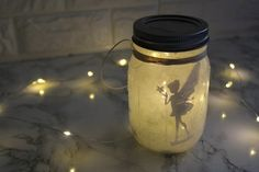 Glas-Fee-Laterne selber machen