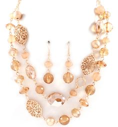 Anna Necklace in Champagne on Emma Stine Limited