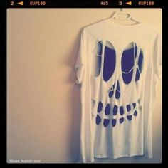 Free Stuff: diy skull top (a favourite gothic punk clothes repin of VIP Fashion Australia )