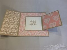 """The Craft Spa - Stampin' Up! UK independent demonstrator : Bloomin' Love Mother's Day 5"""" Square Joy Fold Card with Tutorial"""