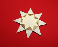 Easy Origami Sun! 8 pointed origami star. Ideas for   Christmas and house ...  ***