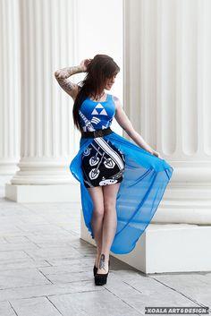 Blue Fire Dress