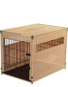 Natural Wicker Dog Kennel Small