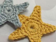 DIY tutorial: Decoratieve sterren in één kleur haken via DaWanda.com