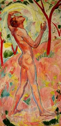 Cuno Amiet was a Swiss painter, illustrator, graphic artist and sculptor. As the first Swiss painter to give precedence to colour in composition, he was a pioneer of modern art in Switzerland.