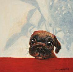 """Saatchi Online Artist Riitta Kalenius; Painting, """"Puppy Dog"""" #art"""