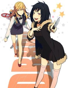 shizuo and izaya genderbend ( even as girls i can't see either of them wearing skirts)