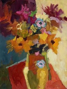 """Larisa Aukon at Mirada Fine Art, 'Summer,' Original Oil on Panel, 12"""" x 9"""""""