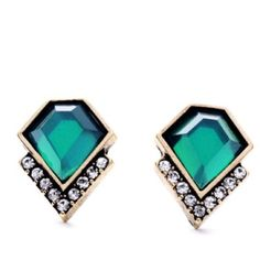 Beautiful emerald earrings These are beautiful emerald like earrings with rhinestone accents. They are sure to add elegance to any outfit!!  Post are nickel and led free. Jewelry Earrings