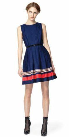 NEW! JASON WU for Target **POPLIN DRESS in NAVY** - NWT