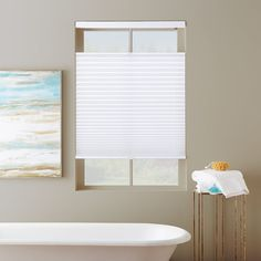 Exceptionnel Classic Light Filtering Cordless Top Down Bottom Up Shades. Bathroom Window  ...