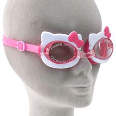 Hello Kitty Swimming Goggles,babygirl would loove these!