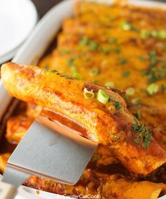 Cheese & Beef Enchilada Recipe - a great way to use ground beef and just oozing with cheese!