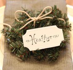 Mini Wreath DIY Christmas Place Cards