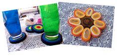 Art Threads: Monday Project - Scrap Felt Coasters and Trivets
