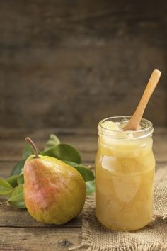 Learn how to make Pear Preserves recipe and enjoy all year long with a fresh pear flavor that is captured right in season. Pear Preserves are easy to make. Pear Recipes, Raw Food Recipes, Sweet Recipes, Pear Preserves, Pear Jam, Salsa Dulce, Jam And Jelly, Preserving Food, Canning Recipes