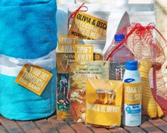 beach wedding welcome gift bag,I want somebody to have a beach wedding!!! lol