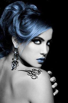 Behind Blue Eyes I want blue lip gloss. I'd rock that. :P