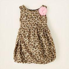 leopard bubble dress