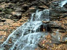 Hiking Trail to the Eternal Flame Falls at Chestnut Ridge Park