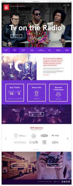 TCS Music Festival Website on Behance