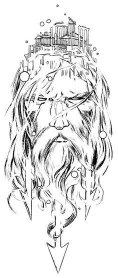 poseidon head by jamesjfrazier.dev… on poseidon head by jamesjfrazier. Poseidon Tattoo, Zeus Tattoo, Poseidon Drawing, Norse Tattoo, Gott Tattoos, Bild Tattoos, Leg Tattoos, Sleeve Tattoos, Tattos