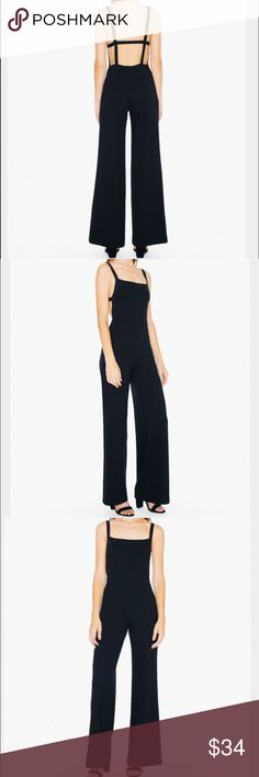 American Apparel Harper Wide Leg Jumpsuit Brand new never worn. Didn't come with tags but just received it today. Would love to keep it but doesn't fit me well because I have a longer torso. Sold out online! American Apparel Other