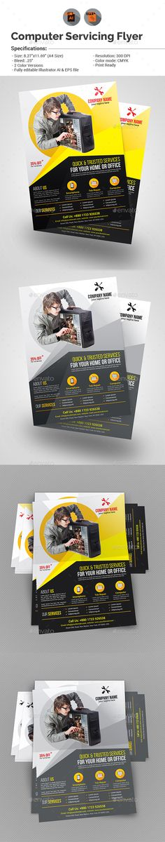 24-Hour Maintenance Template (Also Available in Black \ White - auto detailing flyer template