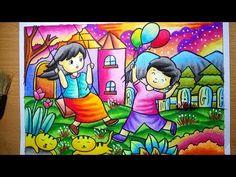 Oil Pastel Paintings, Oil Pastel Art, Oil Pastel Drawings, Colorful Drawings, Easy Drawings For Kids, Drawing For Kids, Crayon Drawings, Art Drawings, Rangoli Drawing