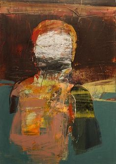 Henry Jackson  Untitled (#224-14), 2014 Oil, Cold Wax, Dry Pigment, Oil Bar & Collage On Panel 27 in x 19 in