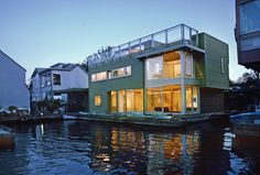 Modern Style Floating Home in Vancouver, BC | International Marine Floatation Systems