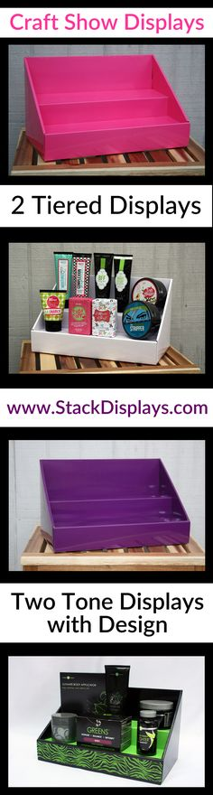 Display your products at craft shows, craft fairs, bazaars & vendor events using Stack Displays!