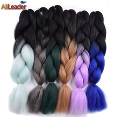 Cheap hair extension, Buy Quality hair braids extensions directly from China hair extension hair extension Suppliers: AliLeader Black Red Purple Green Pink 32Colors Synthetic Braiding Hair, Ombre  Kanekalon Crochet Jumbo Braid Hair Extensions