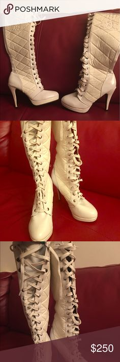 Chanel High Top lace up Fashion Boots Chanel High Top lace up Fashion Boots CHANEL Shoes Lace Up Boots