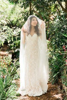 Soft Tulle Chapel Wedding Veil For Dreamy Bridal Portraits Portrait Of A Barefoot Bride
