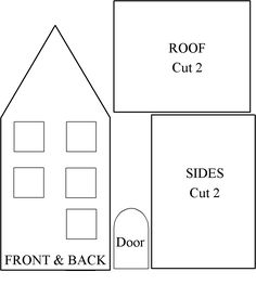 59 Best Gingerbread House Patterns And Templates Images On Pinterest